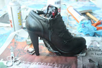 How to make a high heel shoe. Louboutin Shoes/Boots Bluefly - Step 4