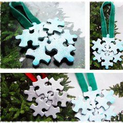 Puzzle Piece Christmas Ornament