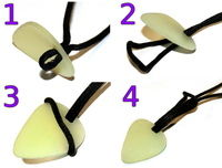 How to make a guitar pick pendant. The Easiest Fully Functional, Adjustable, Glow In The Dark Pick Necklace! - Step 8