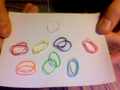 How to make an elastic band bracelet. Rainbow Rubber Band Bracelet - Step 2