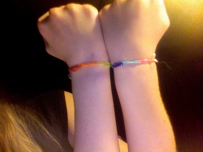 How to make an elastic band bracelet. Rainbow Rubber Band Bracelet - Step 7