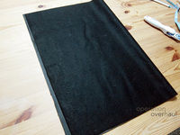 How to make a tote bag. Black Leather Shopping Tote - Step 3