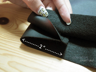 How to sew a leather tote. Black Leather Shopping Tote - Step 4