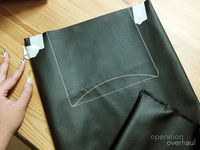 How to make a tote bag. Black Leather Shopping Tote - Step 6