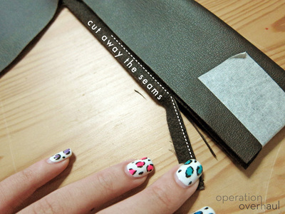How to sew a leather tote. Black Leather Shopping Tote - Step 8
