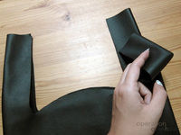 How to sew a leather tote. Black Leather Shopping Tote - Step 9