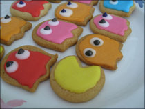 Pacman Sugar Cookies