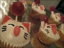 Moogle Cupcakes
