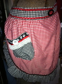 Vintage Look Gingham Apron