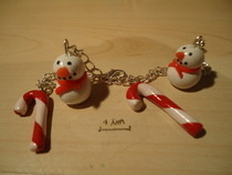 X'mas Bracelet (Polymer Clay)