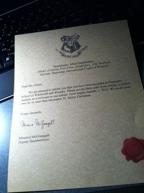 Harry Potter Hogwarts Acceptance Letter