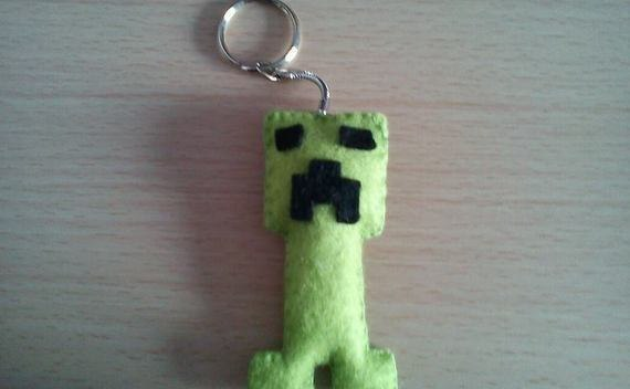 Minecraft Creeper Keyring