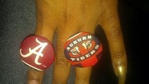 Auburn And Alabama Rings