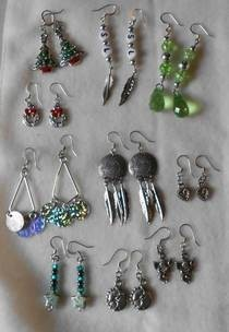 Selection Of Dangley Earrings