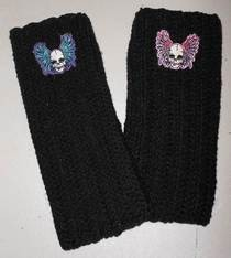 Rocken' Skull Fingerless Gloves