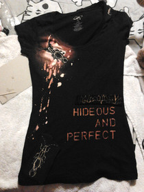 """Hideous & Perfect"" Bleached Deconstructed Shirt"