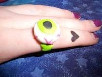 Eyeball, Zombie Heart, &amp; Tim Burton Rings With Fimo