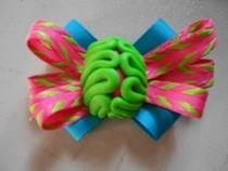 Zombie Brain Hair Bows