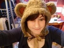 Furry Monkey Hood