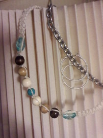 Beachy Hemp Necklace And Hoop Earrings