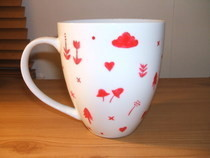 Scandinavian Pattern Painted Mug