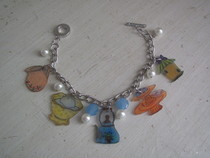 Tea Time Shrink Plastic And Bead Bracelet