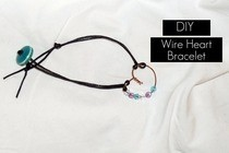 Wire Heart Bracelet
