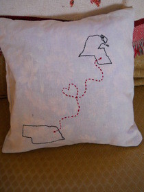 Hearts Afar Pillow