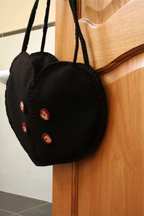 Cute As A Button Heart Bag