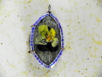 Flower Pressed Rock Pendant