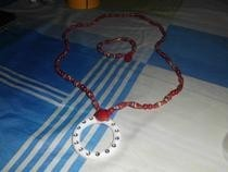 Paper Beads Necklace And Bracelets