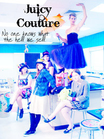 Mock Juicy Couture Photoshoot