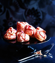 Raspberry Meringues