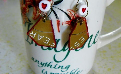 Recycled Cd Earrings