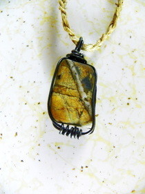 Wire Wrapped Beach Rock Necklaces