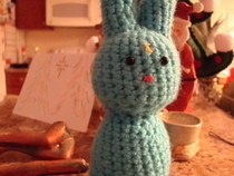 Kokeshi Style Moonbunny Amigurumi