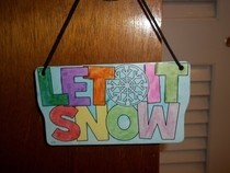 Let It Snow Door Hanger
