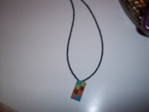 Rectangle Square Necklace