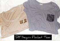 Sequin Pocket Tees