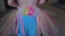 Tulle Flower Back Tutu