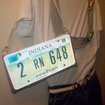 License Plate Purse