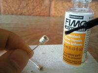How to make a stud earring. Tiny Glitter Studs - Step 4