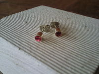 How to make a stud earring. Tiny Glitter Studs - Step 7