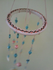 Pink Dolphin Beaded Mobile