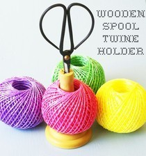 How To Make A Wooden Spool Twine Holder