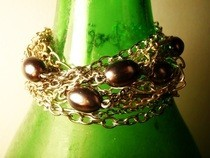 Chains And Pearls Bracelet