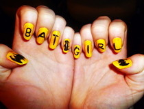 Batgirl Nails