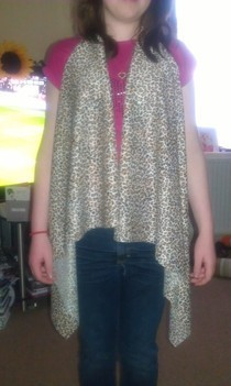 Leopard Print No Sew Waistcoat.
