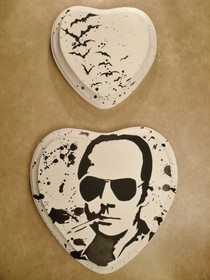 Hunter S. Thompson Stencil Painting