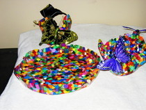 Butterfly Bead Bowls And Tray